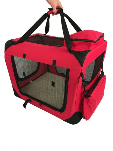 New RayGar Folding Dog Cat Puppy Pet Carrier Fabric Portable Kennel Crate Cage