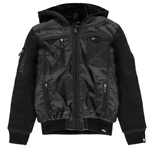 No Fear Kids Boys Lined Zip Jacket Junior Long Sleeve Top