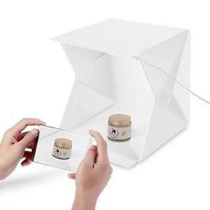Mini Photo Studio Light Box Photography Backdrop LED Lightroom Portable Light
