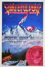 GRATEFUL DEAD 1986 BOREAL RIDGE ROCK CONCERT POSTER