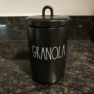 New-RAE-DUNN-GRANOLA-034-8-5-Black-Canister-Cookie-Jar-LL-By-Magenta-2020-Release