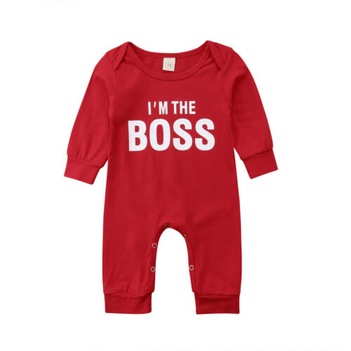 Lovely Newborn Baby Boy Girl Christmas Romper Bodysuit Jumpsuit Playsuit Outfits