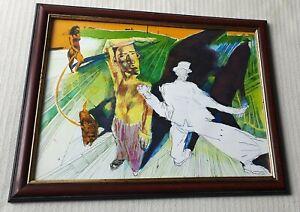 Dariusz-Vasina-b1964-large-original-signed-water-colour-painting-surreal-Circus