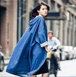 Fashion-Womens-Denim-Long-Coat-Hooded-Outwear-Ladies-Jean-Jacket-Oversized-Hot