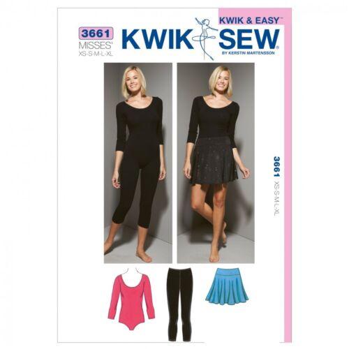 Gratis Reino Unido P/&p 3661... Kwik Sew Damas patrón de costura Calzas leotardos
