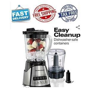 Hamilton Beach Power Elite Multi Function 40 Oz Glass Jar Blender With 3 Cup Cho Ebay