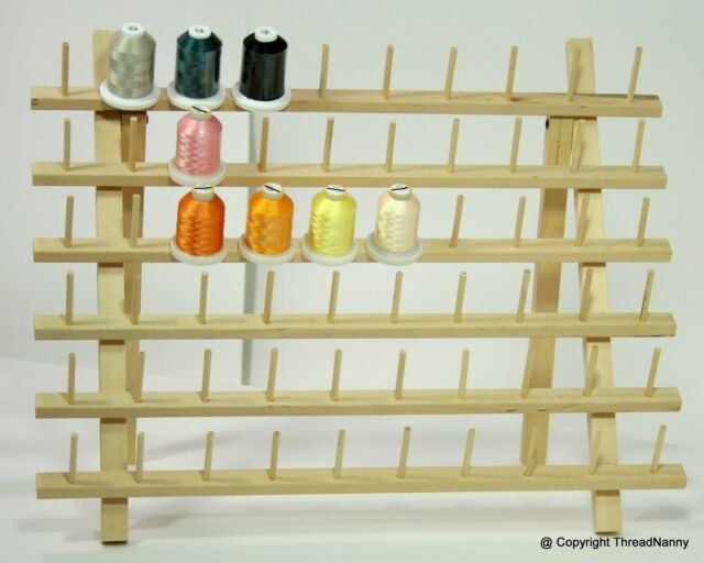 NEW WideBase 60 Cones Wooden Thread Rack for Sewing Quilting Embroidery Robison