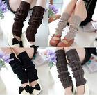 Plain Knitted Winter Women's Knit Crochet Fashion Leg Warmers Legging 5 Colors