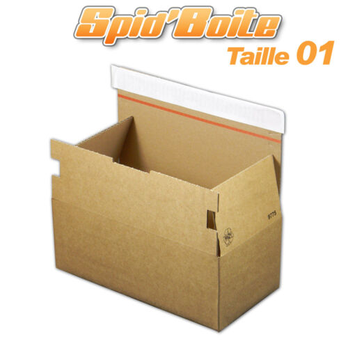 Lot de 10 Boîtes postales autocollantes SPID/'BOITE 01 format 268x135x100 mm