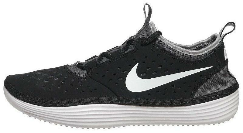 Special limited time NIKE SOLARSOFT COSTA LOW MEN's M CASUAL MESH BLACK - WHITE - GREY NEW IN BOX Price reduction