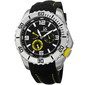 New-Men-039-s-Joshua-amp-Sons-JS53YL-Quartz-Easy-to-Read-Multifunction-Silicone-Watch