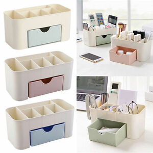 Image is loading DIY-Cosmetic-Storage-Box-Desk-Decor-Wooden-Makeup- & DIY Cosmetic Storage Box Desk Decor Wooden Makeup Case Jewelry ...