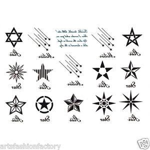 Details about Temporary Tattoos David Stars Star Meteor Tattoo Body Art  Tattoos Waterproof