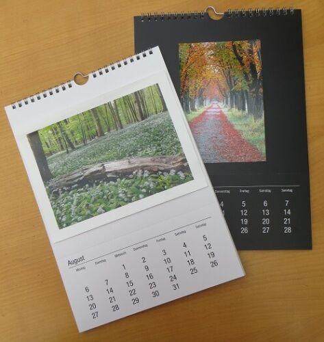 12 x Fotokalender Bastelkalender  2021 DIN A5 für Fotos bis 10x15 cm