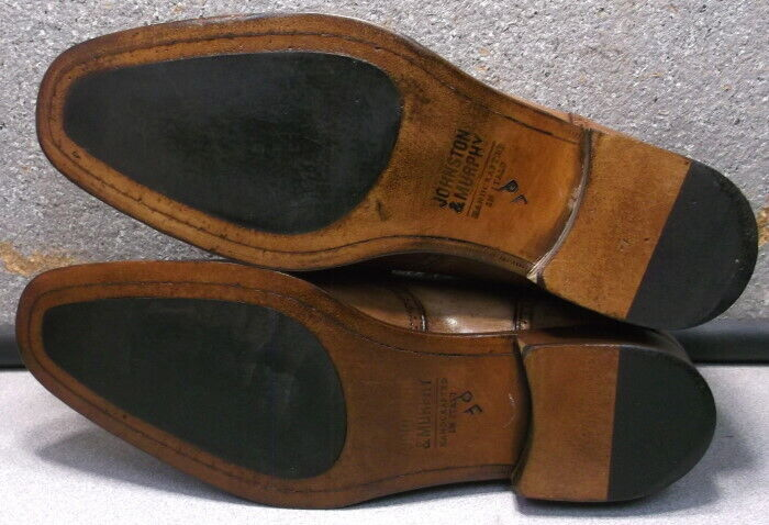 242604 PFi60 Men's Shoe Size 13 M Brown Leather Made in Italy Johnston & Murphy