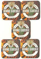 """332 - Bière de Guyane - 5 sous-bocks """"Jeune Gueule"""" - état neuf"""