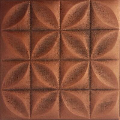 "Styrofoam Glue Up LIMA* 20/"" x 20/"" Antique Copper Ceiling Tiles"