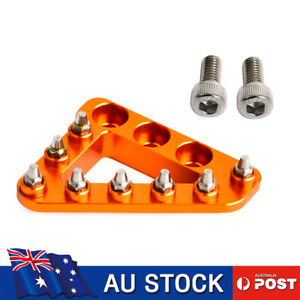 CNC Brake Pedal Lever Step Plate Tip For KTM 85-500 EXC SX SXF SMR XC XCW EXC-F
