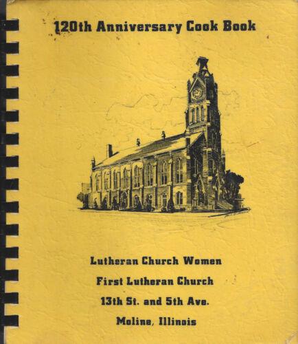 ETHNIC SMORGASBORD MOLINE IL 1970 LUTHERAN CHURCH COOK BOOK 120th ANNIVERSARY