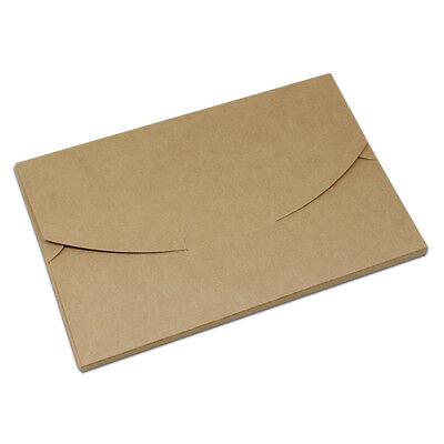 Kraft Paper Open Window Postcard Boxes Photo Picture Pack Box