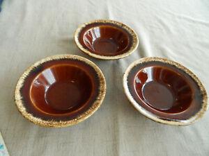 Hull Pottery Brown Drip (3) Crestone Bowls                                  16-4