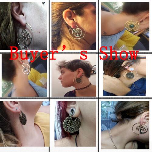 New 2Pcs Brass Ear Weight Style Mixed Tribal Earings Taper Expandera Plugs Gauge