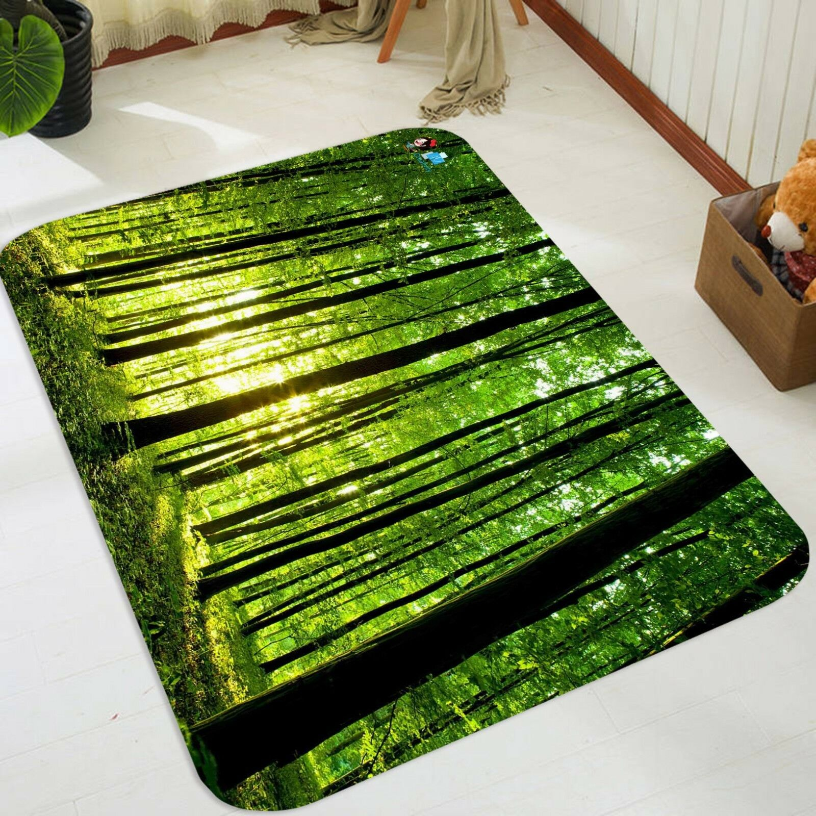 3D Dense Tall Trees 04 Non Slip Rug Mat Room Mat Quality Elegant Photo Carpet AU