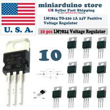 1//2 pcs L7824CV Voltage Regulator 24V TO-220 USA Comb Ship