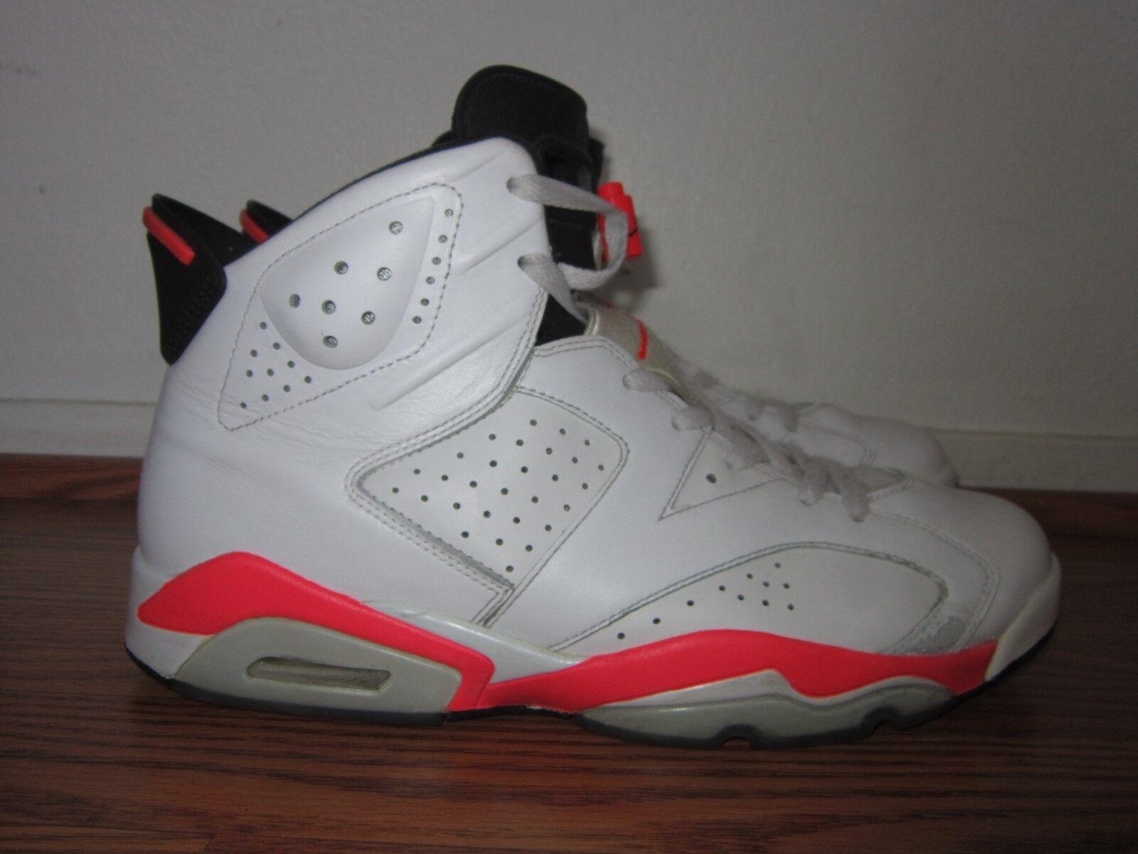 Nike Air Jordan 6 VI Retro INFRARED White Black 2014 Men's Size 12 DS 2014 Black 384664 123 02e7bb
