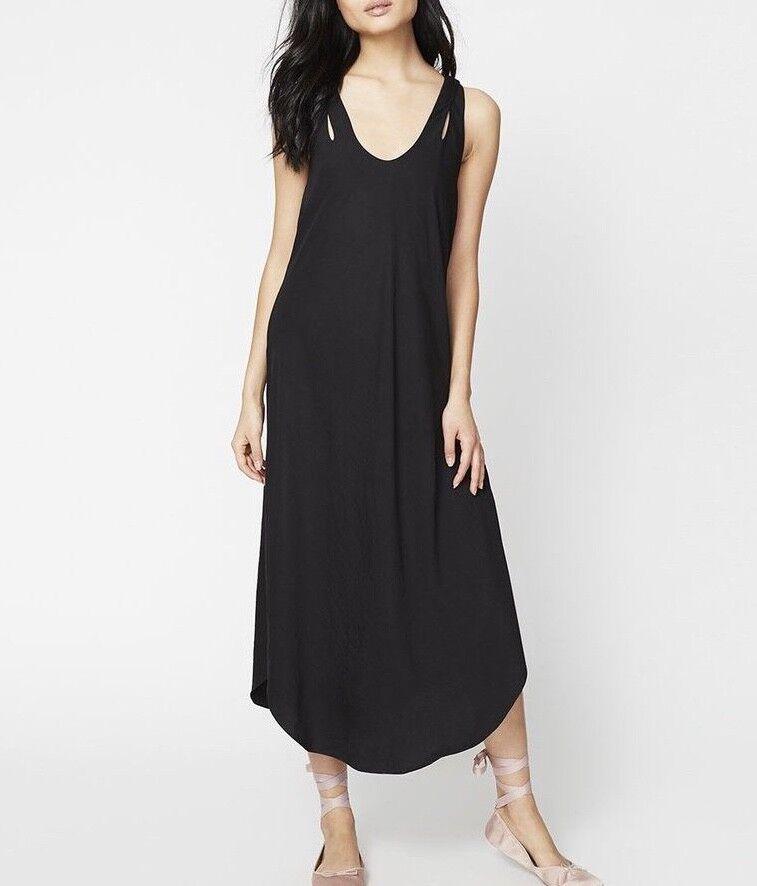 NEW RACHEL Rachel Roy Woherren Cutout Tie-Back Slip Dress schwarz Größe 4