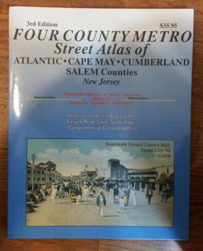 Atlantic Cumberland /& Salem Counties NJ Franklin Map Street Atlas Cape May