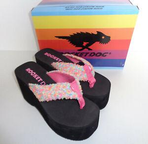 Rocket-Dog-New-Ladies-Platform-Flip-Flops-Womens-Wedges-Sandals-Size-3-4-5-6-7-8