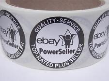 Ebay Top Rated Plus Seller Quality Service Seal Label circle matte silver 250/rl