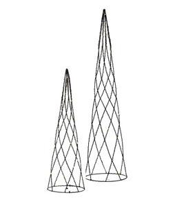 LED Draht Kegel Cone Metall schwarz 40 und 60 cm Batteriebetrieb Timerfinktion