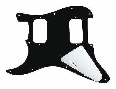 Black 920D Strat 3 Ply HH Pickguard Fender Stratocaster CNC Cut