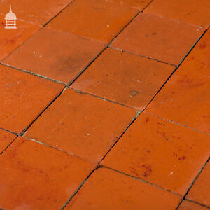 Reclaimed 6x6 Thick Red Quarry Tiles 6 Inch x 6 Inch Floor Tiles | eBay