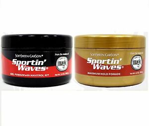 SOFTSHEEN-CARSON-SPORTIN-WAVES-GEL-POMADE-BLACK-AND-GOLD