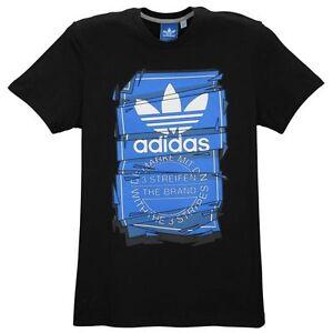 Activewear Nice Adidas Mens T Shirt Graphic Short Sleeve Top Black Size Xl Bnwt