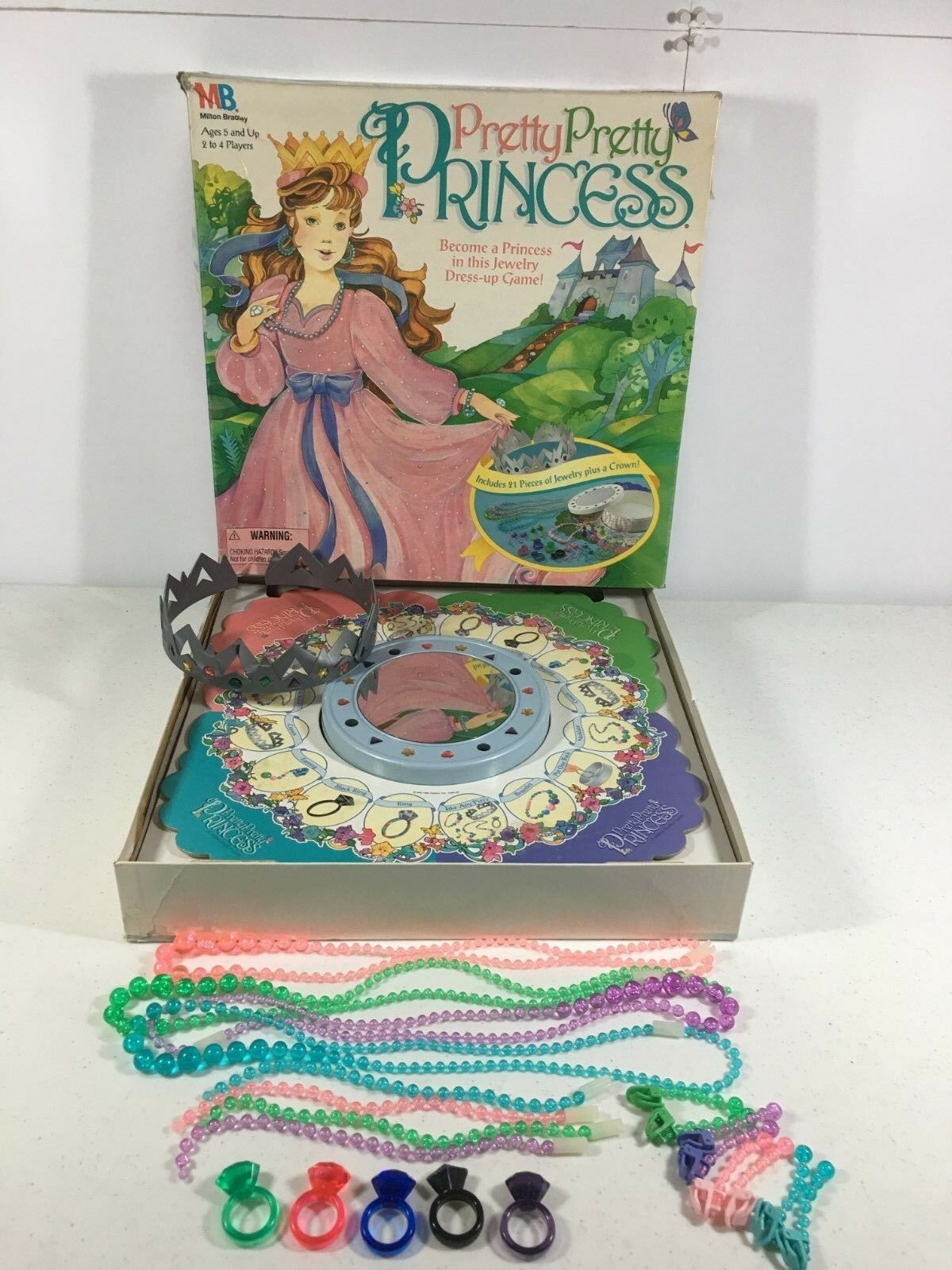 Pretty Pretty Princess Game Mattel Vintage Complete Except Missing 4 Mover Pawns