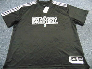 3-ADIDAS-NBA-AUTHENTIC-SAN-ANTONIO-SPURS-SHOOTING-SHIRT-JERSEYS-SIZE-2XL