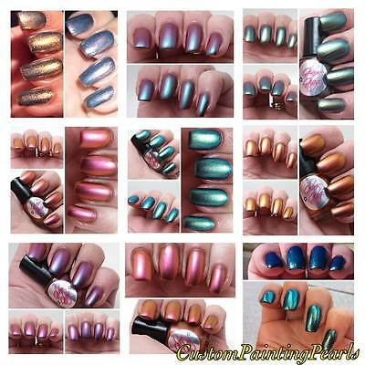 Make your own Chameleon Nail Polish Line x10 Multi Color Changing Pearl Pigment