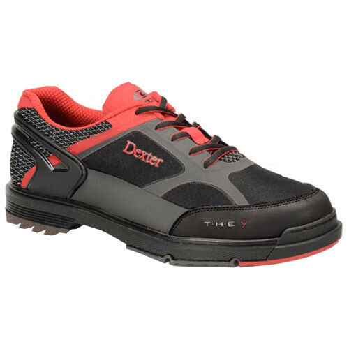 Dexter The 9 HT BLK RED GREY Mens Bowling shoes Sz 8 Wide NIB