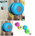 Waterproof Wireless Bluetooth Handsfree Mic Suction Shower Speaker Stereo Blue