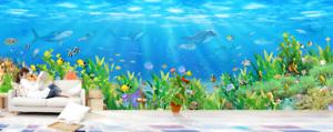 3D Green bluee Seabed 8 Wall Paper Murals Wall Print Wall Wallpaper Mural AU Kyra