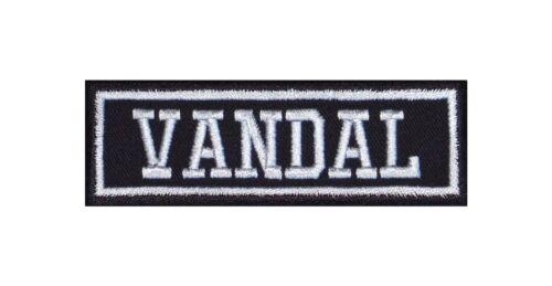 VANDAL Biker Patch ricamate moto MC Rocker tonaca Vest Outlaw BANDIT Warrior