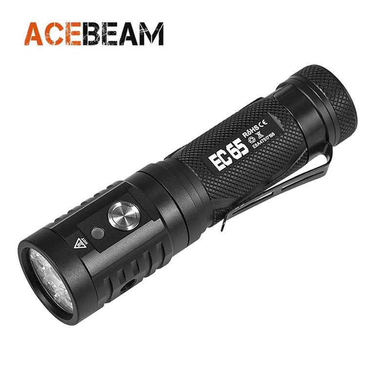 AceBeam EC65 USB Cree XHP35 HI LED 4000 Lumens LED Flashlight ( With battery )