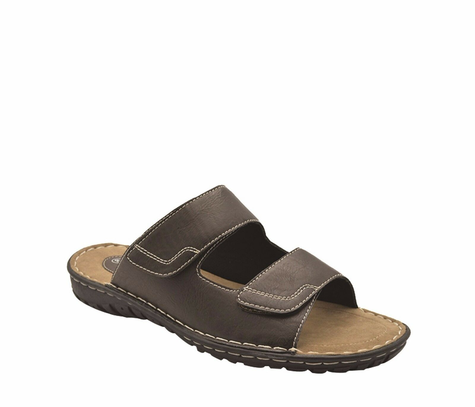 1eeab1fdb034 ... Mens Shoes Sandals Grosby Jesse Brown Twin Touch Touch Touch Fastening  Sandal Size UK6-12