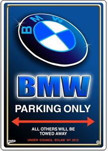 BMW CAR PARKING SIGN Parking Only EBay - Bmw parking only signs