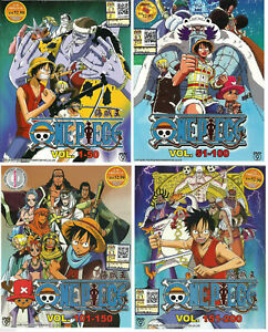 Anime-DVD-One-Piece-Collection-Vol-1-200-Japanese-Animation-4-Box-Sets
