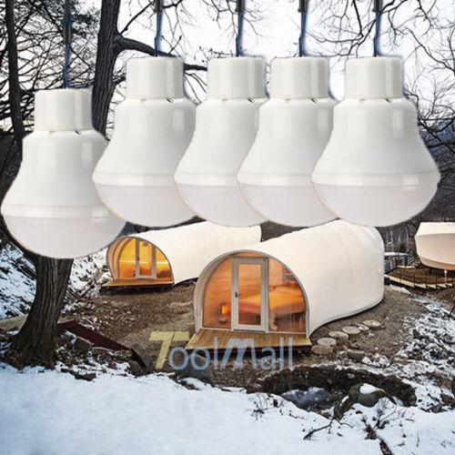 5Pack Portable Solar Panel Power LED Bulb Lamp Outdoor Camp Tent Fishing Light